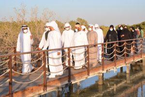 محمد بن حم يزور جزيرة الجبيل