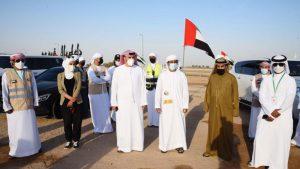 محمد بن حم يتفقد أعضاء فريق عونك يا وطن